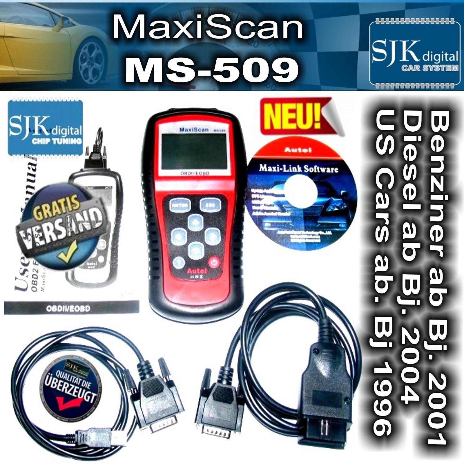 ++ OBD2 MaxiScan MS509 Profi Diagnose Gerät CAN in deutsch für Hummer MOTOR
